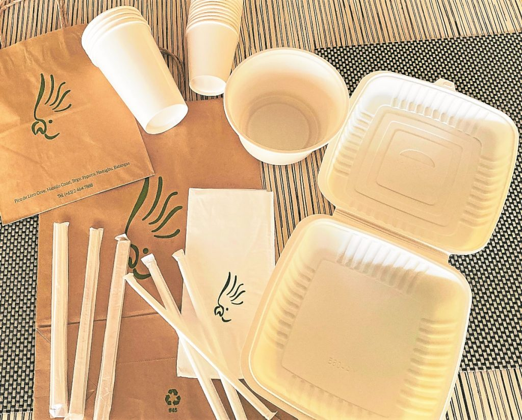 Paper cups, plates, and straws